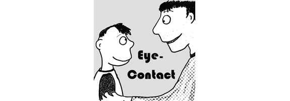 Making Eye Contact When Talking to Someone